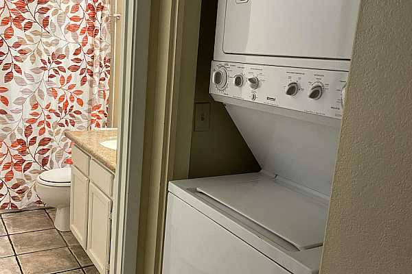 Photo #4 stacked washer and dryer